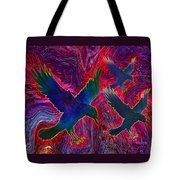 Raven On Red Tote Bag