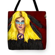 Raven Yellow Hair Tote Bag