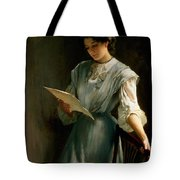 Reading The Letter Tote Bag