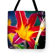 Red And Yellow Lily Tote Bag