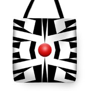 Red Ball 8 Tote Bag