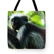 Red Colobus Monkey Tote Bag
