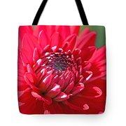 Red Dahlia Flower Tote Bag