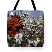 Red In The Cotton  Tote Bag