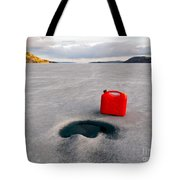 Red Jerrycan Lost On Frozen Lake Laberge Yukon T Tote Bag