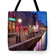 Red Light District In Amsterdam Tote Bag