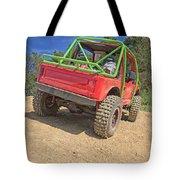 Red Off Road Car  Tote Bag