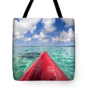 Red Outrigger Canoe Tote Bag