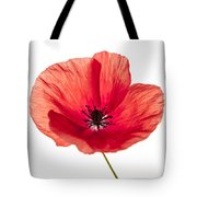 Red Poppy Flower Tote Bag