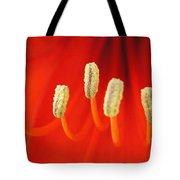Red Stamens Tote Bag