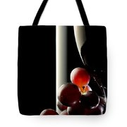 Red Wine With Grapes Tote Bag by Johan Swanepoel