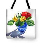 Red Yellow And Blue Tote Bag