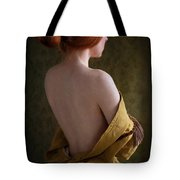 Redhead Woman Removing A Ballgown Tote Bag