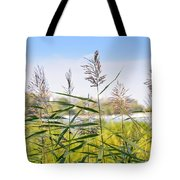 Reed Flowers Tote Bag