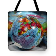 Reflected Globe Tote Bag
