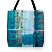 Reflections In Modern Glass-walled Building Facade Tote Bag