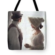 Regency Period Couple At The Window Tote Bag