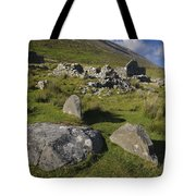 Remains Of Slievemore Village Tote Bag