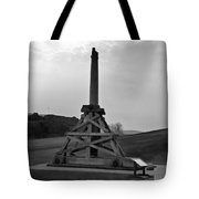 Replica Of Wooden Trebuchet And The Ruins Of The Urquhart Castle Tote Bag