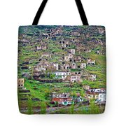 Residents Moved From Homes In Cliffs To Homes Below In 1951 In Cappadocia-turkey Tote Bag