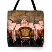 Restaurant Patio In France Tote Bag