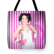 Retro Cleaning Service Maid With Smile Tote Bag
