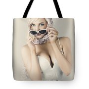 Retro Pin-up Girl In Classic Fashion Style Tote Bag