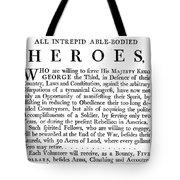 Revolutionary War Poster Tote Bag