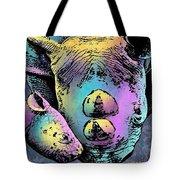 Rhino And Baby Tote Bag