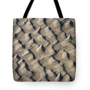 Ripple Pattern On Mudflat At Low Tide Tote Bag