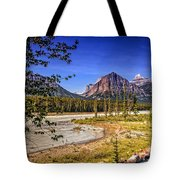 River And Mountains In Jasper Tote Bag