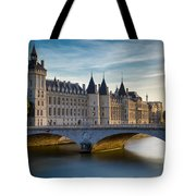 River Seine And Conciergerie Tote Bag
