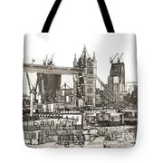 River Thames Sketch Tote Bag