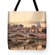 River Tiber In Rome Tote Bag