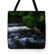 River Wye Waterfall - In Bakewell Peak District - England Tote Bag