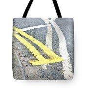 Road Markings Tote Bag
