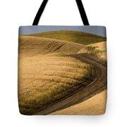 Road Through Wheat Field Tote Bag