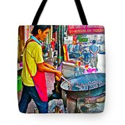 Roasting Chestnuts In China Town In Bangkok-thailand  Tote Bag