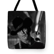 Robert Mitchum Conferring With Director Burt Kennedy Young Billy Young Old Tucson 1968 Tote Bag