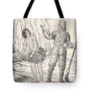 Robinson Crusoe And Friday Tote Bag