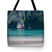 Rock Formations In The Sea, Phi Phi Tote Bag