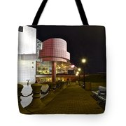 Rock N Roll Hall Of Fame Tote Bag by Frozen in Time Fine Art Photography