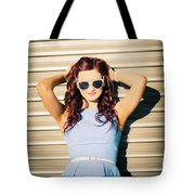 Rockabilly Greaser Pin-up. 50s Drive-in Culture Tote Bag