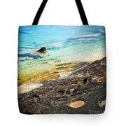Rocks And Clear Water Abstract Tote Bag