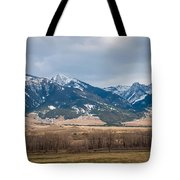 Rocky Mountains In Montana Tote Bag