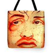 Rocky On Wall Tote Bag