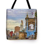 Roebling Bridge 9872 Tote Bag