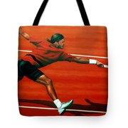 Roger Federer At Roland Garros Tote Bag