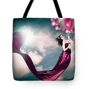 Romantic Girl In Love With Beauty And Fashion Tote Bag