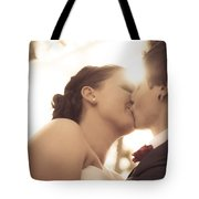 Romantic Wedding Kiss Tote Bag